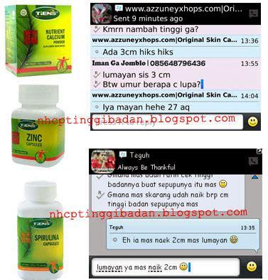 Peninggi Badan Herbal Tiens Kalsium Nhcp Dan Zinc Paket 10hari Grow Up 3 peninggi badan nhcp tiens obat tinggi herbal