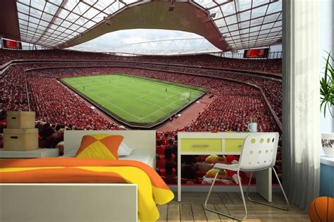 football murals for bedrooms emirates stadium arsenal wall mural arsenal fc pinterest
