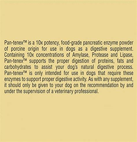 enzymes for dogs pan tenex digestive enzymes for dogs 8 8 ounces 250 grams price reviews user