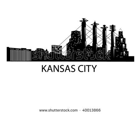 icon design kansas city downtown kansas city skyline stock vector 40013866