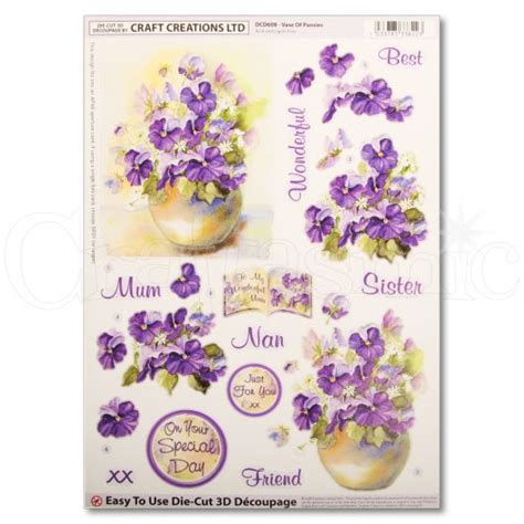 craft creations decoupage craft creations craft creations die cut decoupage vase