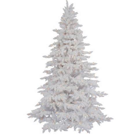 vickerman pre lit 4 5 flocked white spruce artificial