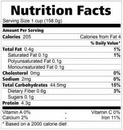 family choice grains processing center inc healthy ideas nutrition facts