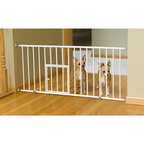 small gate carlson pet products mini gate with small pet door 162007 pet gates rs steps
