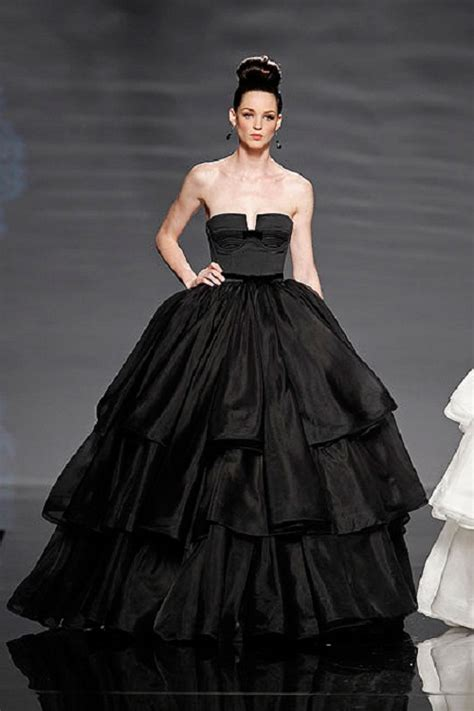 Wedding Dresses Black by 2013 Wedding Trend The Black Wedding Gown Style To The