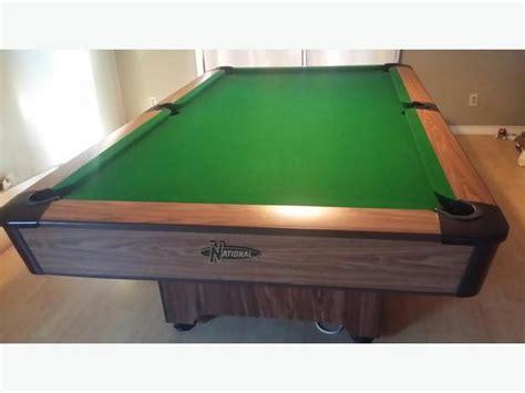 3 piece slate pool table national 4x8 3 piece slate pool table outside comox valley