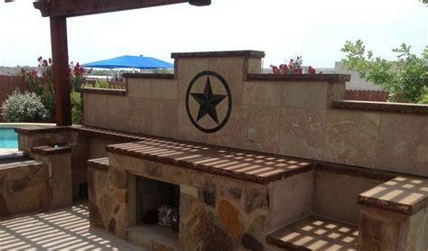 24 quot texas star in backsplash of outdoor kitchen texas outdoor kitchen backsplash photos