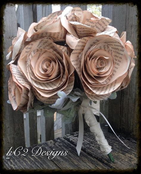 Wedding Bouquet Books by Book Page Roses Wedding Bouquet Bridal Bouquet Wedding
