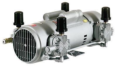 gast 6hca 10 m616x oilless air compressor piston compressor 5 4 cfm 115 230 vac from