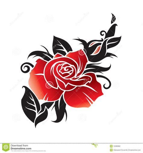 vector graphic of rose stock photography image 15280882