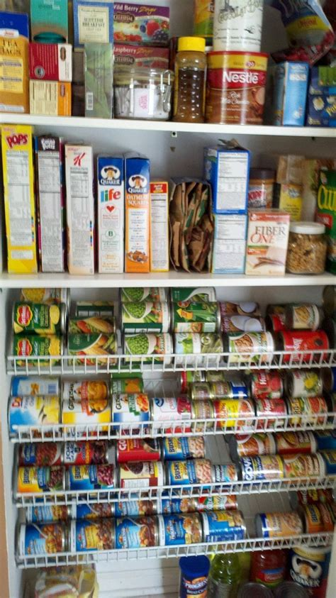 Shelf Canned Goods by How To Organize Canned Goods Wire Shelves Flipped