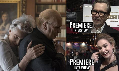 darkest hour premiere darkest hour uk premiere interviews gary oldman kristin