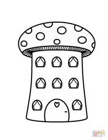 mushroom house coloring pages mushroom house coloring page free printable coloring pages