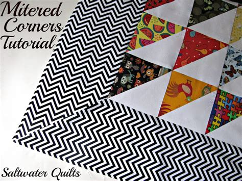 saltwater quilts tutorial mitered corners