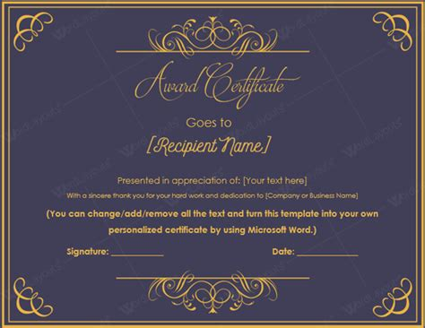 best certificate templates 10 best award certificate templates for 2016