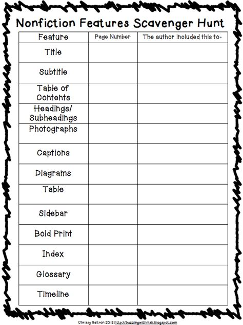 Nonfiction Text Features Worksheet 3 6 free resources nonfiction features freebies