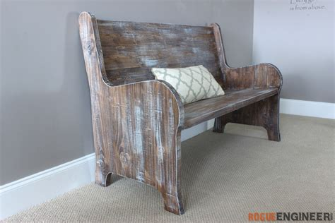 church benches free how to build a church pew free diy plans rogue engineer