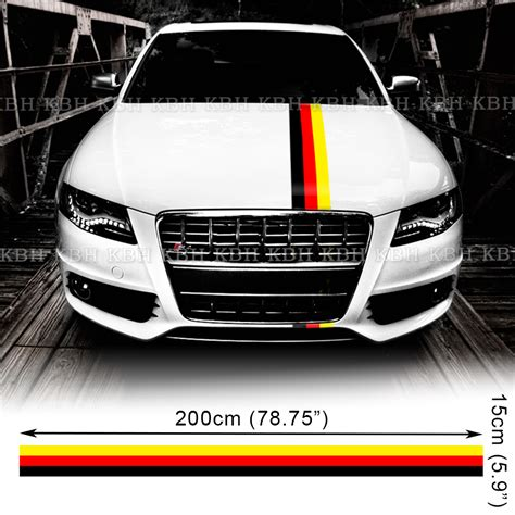 audi germany flag germany flag 3 colors hood stripe decal sticker for audi