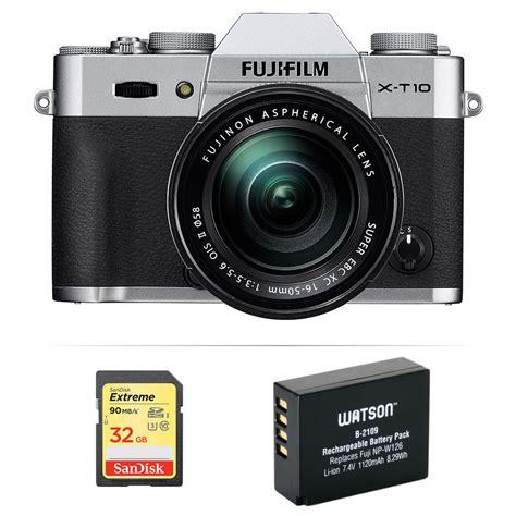 Fujifilm X T10 Only Free Memory 32gb fujifilm x t10 mirrorless digital with 16 50mm lens b h