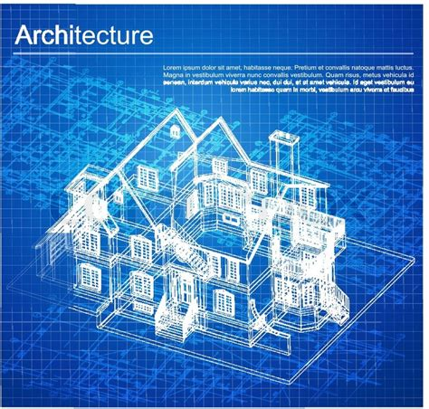 Blueprints For My House by Urban Blueprint Vector Architectural Background Part
