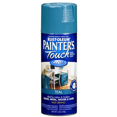 spray painter lowes shop rust oleum painter s touch 12 oz teal gloss spray