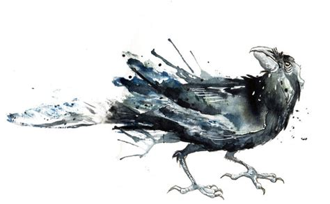 watercolor tattoo raven watercolor ideas