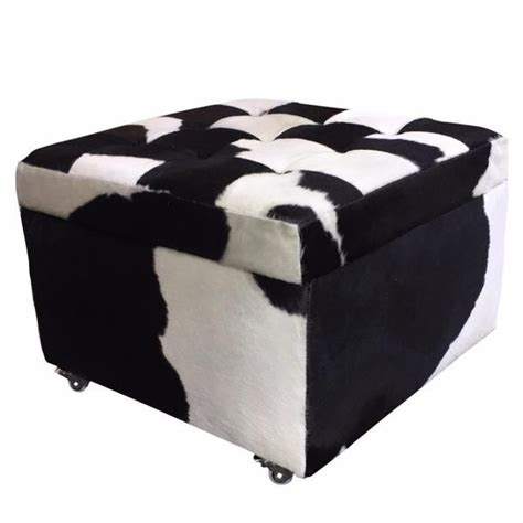 cowhide storage ottoman 106 best images about cowhide chair on pinterest western
