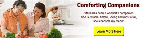 Comfort Companions by Official Site Eldercare At Home In Home Care Senior Care Elder Care