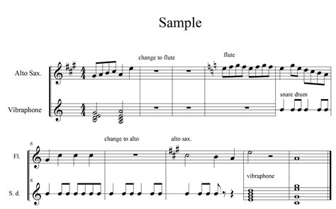 different staff properties for sections of musescore