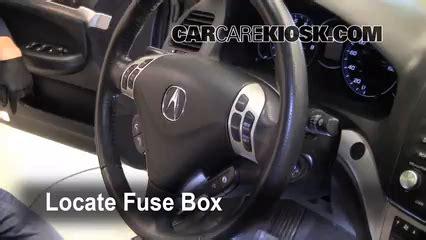 interior fuse box location   acura tsx  acura tsx   cyl