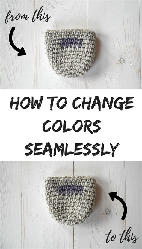 how to change colors crochet how to seamlessly change colors in crochet in the