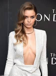 Stylish Office abbey lee shows off cleavage in white dress at new york