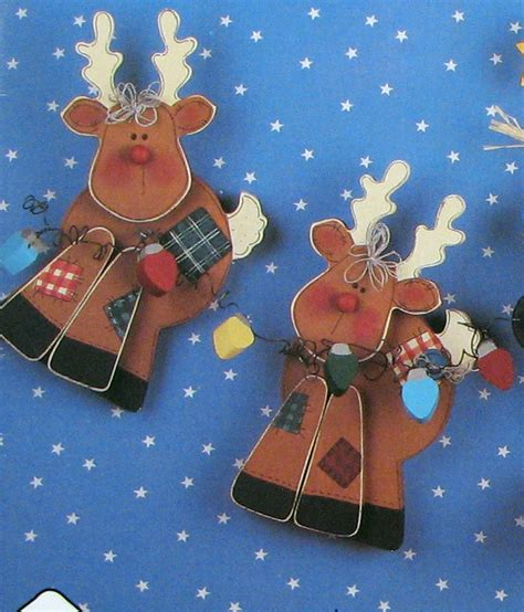 wood pattern christmas christmas wood craft pattern reindeer by southcastlevintage