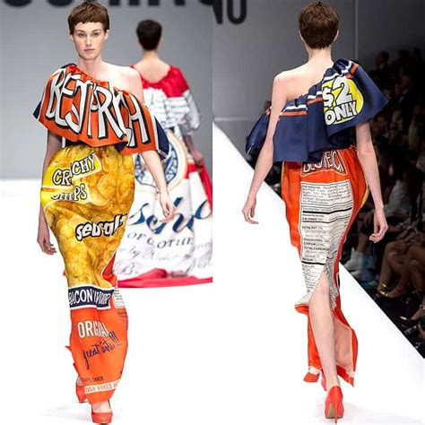 Dress Chip N Dell serves up junk food dresses for moschino fall 2014