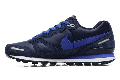 Nike Waffle Trainer nike air waffle trainer leather trainers in blue at sarenza co uk 151643