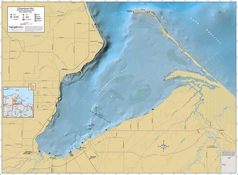 chequamegon bay wall map