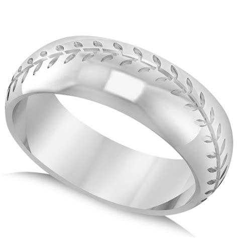 s baseball eternity sports band ring 14k white gold