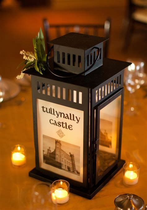 Our Irish Castle Lantern Centerpieces   Weddingbee Photo