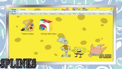 theme google chrome spongebob nickelodeon chrome themes themebeta