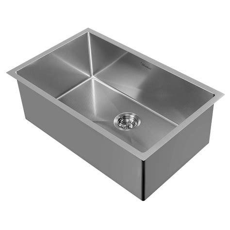 Whitehaus Sinks Kitchen Whitehaus Collection Noah Plus Dual Mount Stainless Steel 29 In Single Bowl Kitchen Sink In