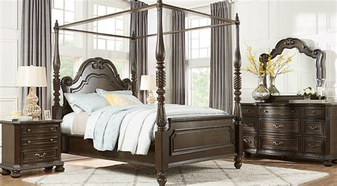 queen canopy bedroom sets whittington cherry 6 pc queen canopy bedroom queen