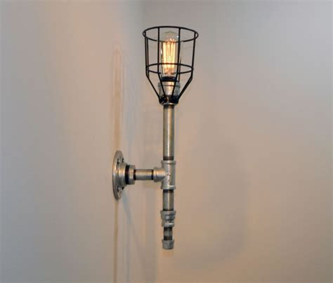 Galvanized Wall Sconce Made Wall Sconce Galvanized Malleable Iron Industrial Steunk By Milton Douglas L
