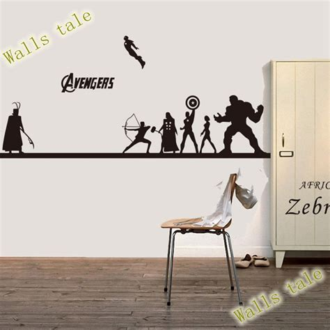 Spiderman Wall Stickers creative diy the avengers wall sticker iron man hulk