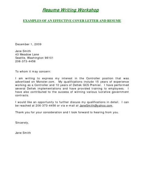 short cover letters exles letter template