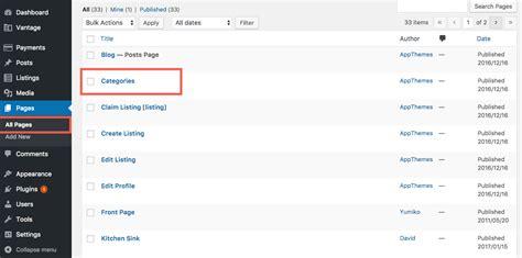 wordpress tutorial vantage setting up your vantage categories page appthemes docs