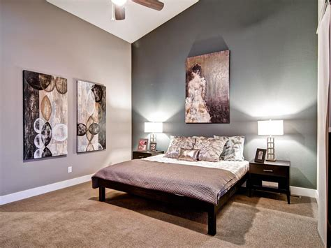 gray accent wall gray master bedrooms ideas hgtv