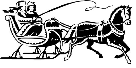coloring page one open sleigh sleigh ride ornament lakesidester