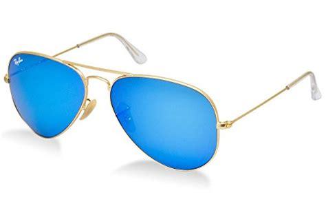 Im Gold Rb ban original 112 17 aviator non polarized sunglasses matte gold frame blue mirror lens