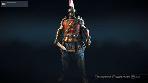 Savia Set reputation 1 centurion gear savia armor and scorpion gladius forhonor