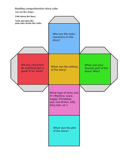 printable guided reading dice here is a printable reading comprehension cube you can